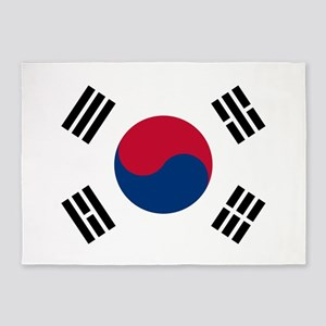 south korea flag 5'x7'Area Rug