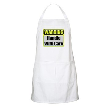 Handle With Care Warning BBQ Apron