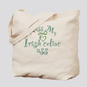 Kiss My Irish Celiac Ass (Gluten Free Hum Tote Bag