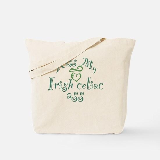 Kiss My Irish Celiac Ass (Gluten Free Hum Tote Bag