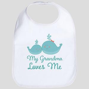 My Grandma Loves Me Baby Bib