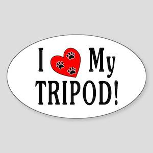 I Love My Tripod! Oval Sticker