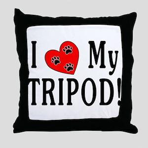 I Love My Tripod! Throw Pillow