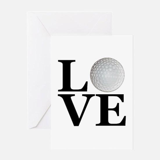 LOVE Golf Greeting Card