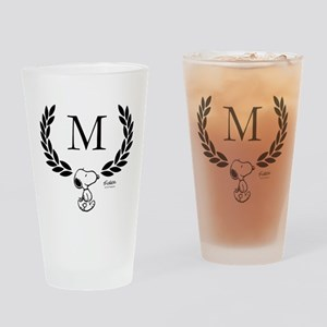Snoopy Monogram Drinking Glass