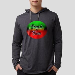 Beach Bum Mens Hooded Shirt