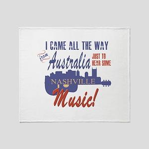 Nashville Music from Australia Throw Blanket