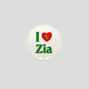 I (heart) Love Zia Mini Button
