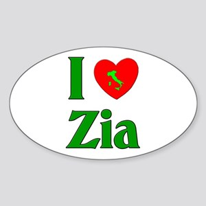 I (heart) Love Zia Oval Sticker