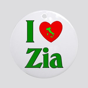 I (heart) Love Zia Ornament (Round)