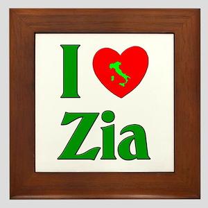 I (heart) Love Zia Framed Tile