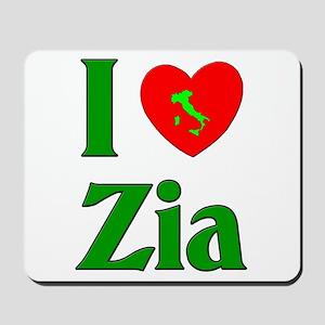 I (heart) Love Zia Mousepad