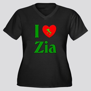 I (heart) Love Zia Women's Plus Size V-Neck Dark T
