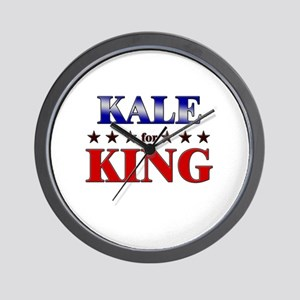 KALE for king Wall Clock