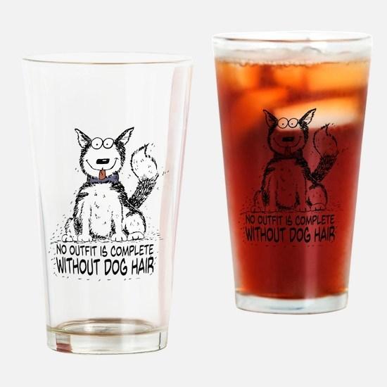 Cute Dog sayings Drinking Glass