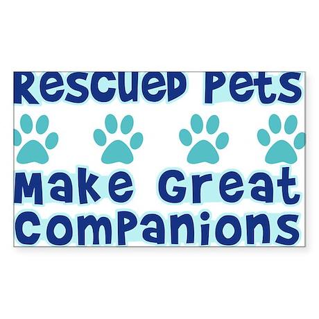 Rescued Pet Companions Rectangle Sticker