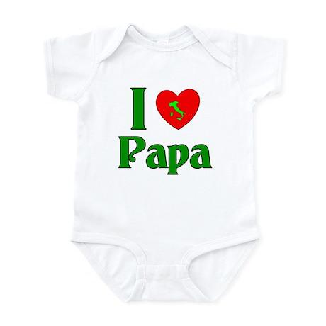 I (heart) Love Papa Infant Bodysuit