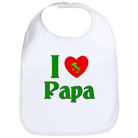 I (heart) Love Papa Bib