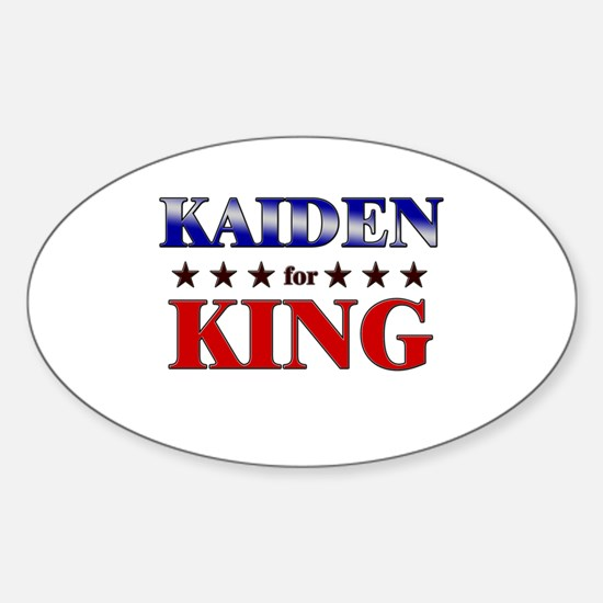 KAIDEN for king Oval Decal