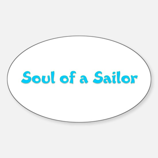 Soul of a Sailor Oval Decal
