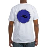 Courage Quote by Mark Twain Fitted T-Shirt