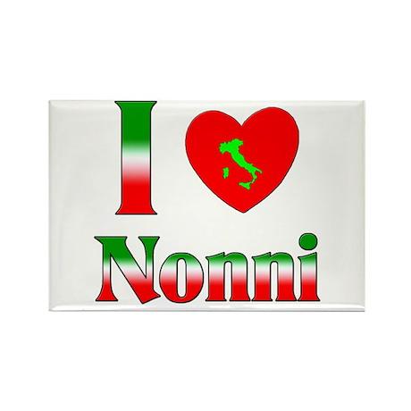 I Love (heart) Nonni Rectangle Magnet (10 pack)
