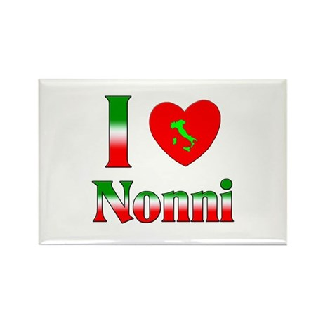 I Love (heart) Nonni Rectangle Magnet (100 pack)