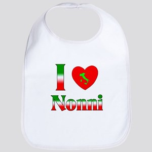 I Love (heart) Nonni Bib
