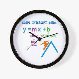 Slope Intercept Form Wall Clock