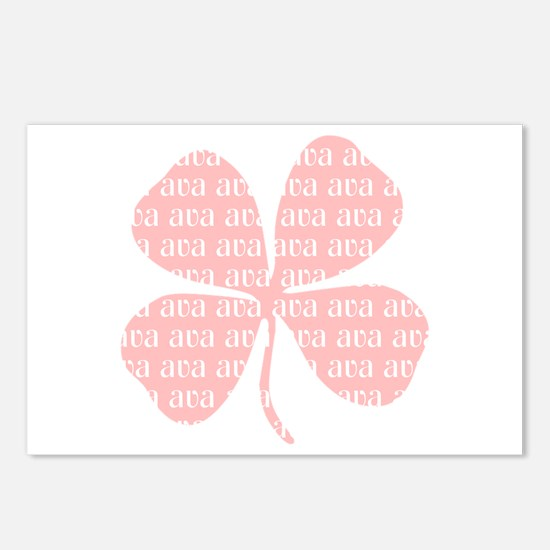 Pink Shamrock Ava Postcards (Package of 8)