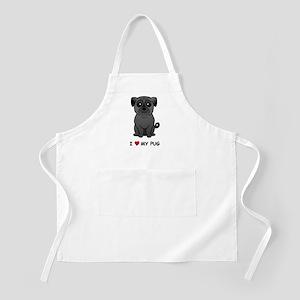 Black Pug BBQ Apron