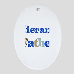 Kieran's Father  Oval Ornament