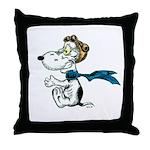Crazy Dog Throw Pillow