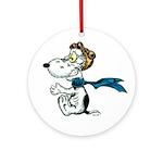 Crazy Dog Ornament (Round)