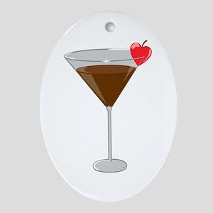 Chocolatetini Oval Ornament