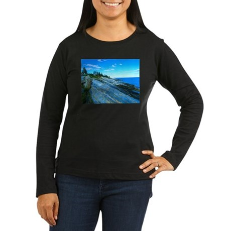 Pemaquid Point (no caption) Women's Long Sleeve Da
