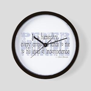Peter Principle Wall Clock