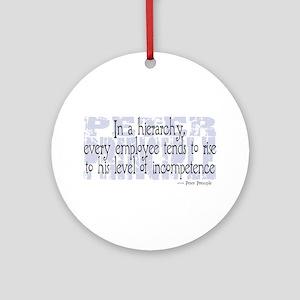 Peter Principle Ornament (Round)