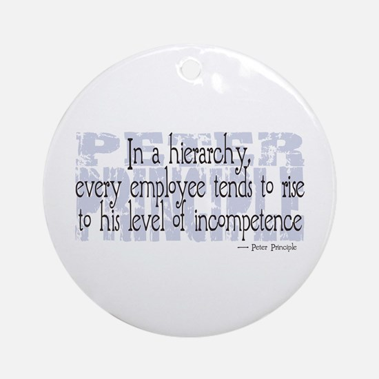 Peter Principle Ornament (Round)