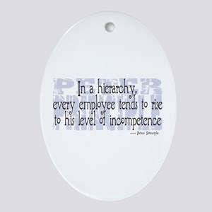 Peter Principle Oval Ornament