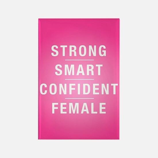 Strong Smart Confident Female Rectangle Magnet