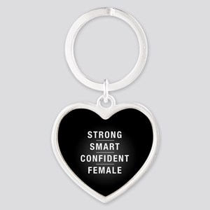 Strong Smart Confident Female Heart Keychain