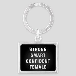 Strong Smart Confident Female Landscape Keychain