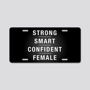 Strong Smart Confident Fema Aluminum License Plate