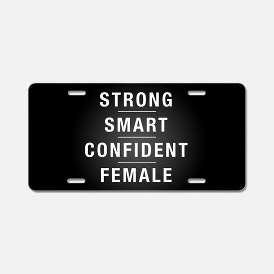 Strong Smart Confident Fema Aluminum License Plate