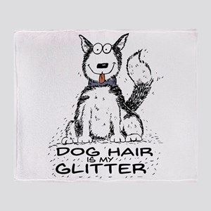Dog Hair is My Glitter Throw Blanket