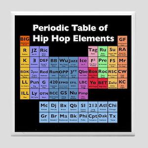 Hip Hop Table of Elements Tile Coaster