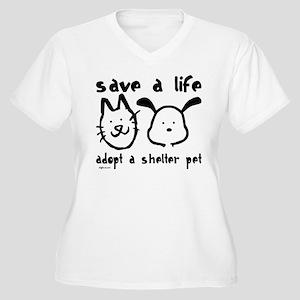 Save a Life - Adopt a Shelter Pet Women's Plus Siz