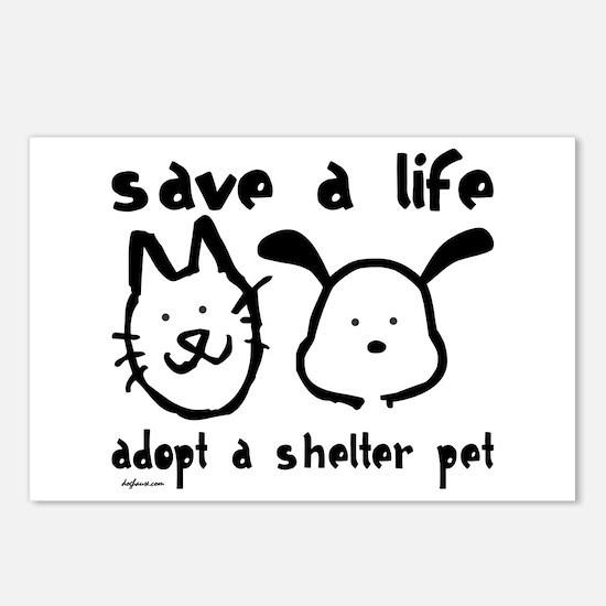 Save a Life - Adopt a Shelter Pet Postcards (Packa