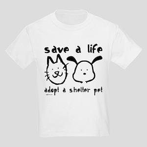 Save a Life - Adopt a Shelter Pet Kids Light T-Shi